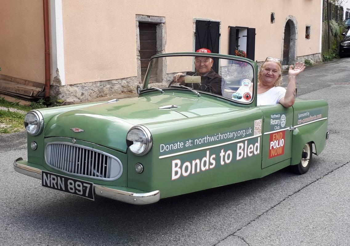 Bonds to Bled - Northwich Rotarian driving 2,000 mile to Lake Bled in Slovenia and back in a 60 year old 3 wheeler to raise funds for Polio Eradication.