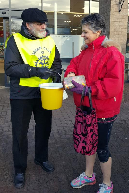 Collection at Waitrose in Hexham - Collecting at Waitrose
