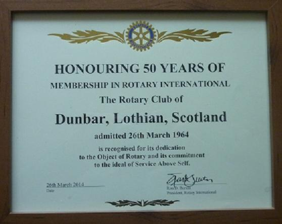 50 years of Rotary in Dunbar
