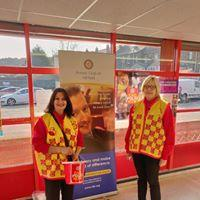ROTARY'S POLIO CAMPAIGN - Members collecting money from the generous customers of Mullaco supermarket Dewsbury