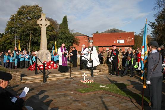 Remembrance Parade in Aldridge -