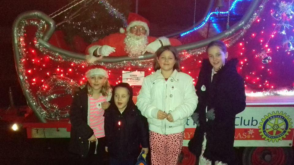 Thank you to the people of Havant - Happy children meeting Santa