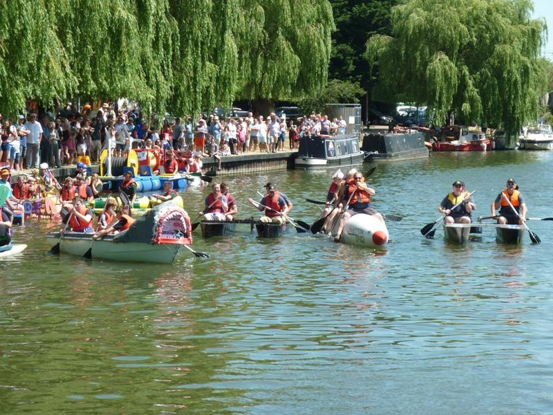 Some of the rafts from last years event