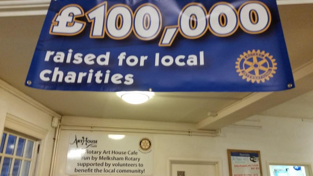Celebrating reaching £100,000 for local charities -