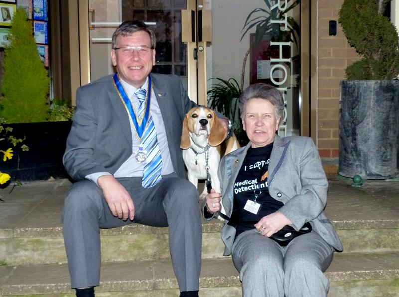 Norma Howell from Medical Detection Dogs & K.L Rotary President Keith Boyce