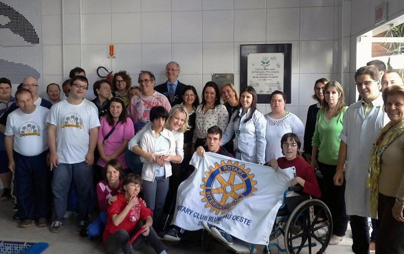 Joint International Project - Rotary Blumenau Oeste - Brazil - APAE -  the beneficiaries