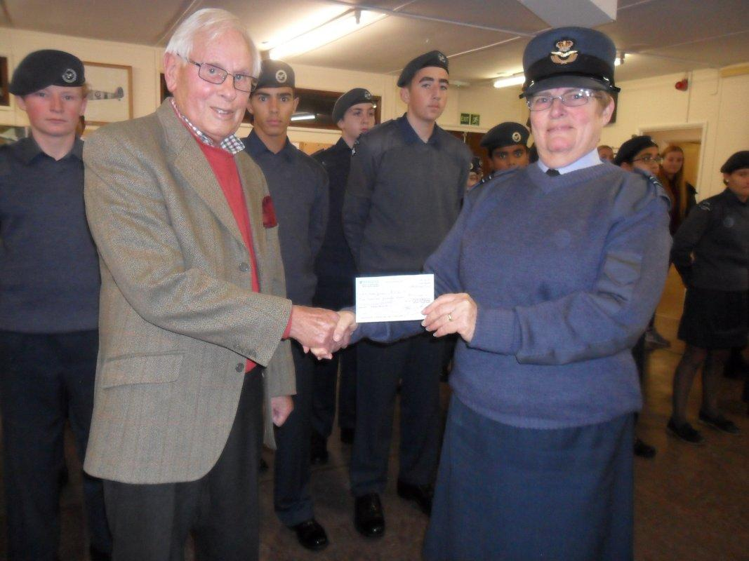 ATC receive our cheque - David presents cheque to ATC