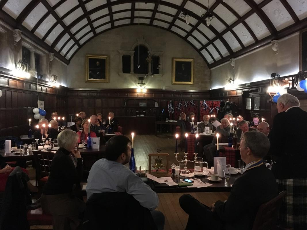 Jan 2017  Burns Night Dinner and Celebration - Guest Night. - Westminster Main Hall