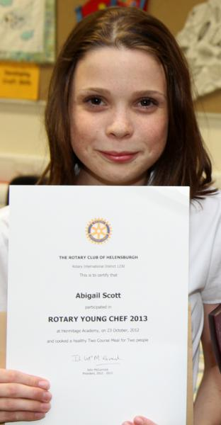 Club Meeting ~ Young Chef Review - Rotary Club of Helensburgh