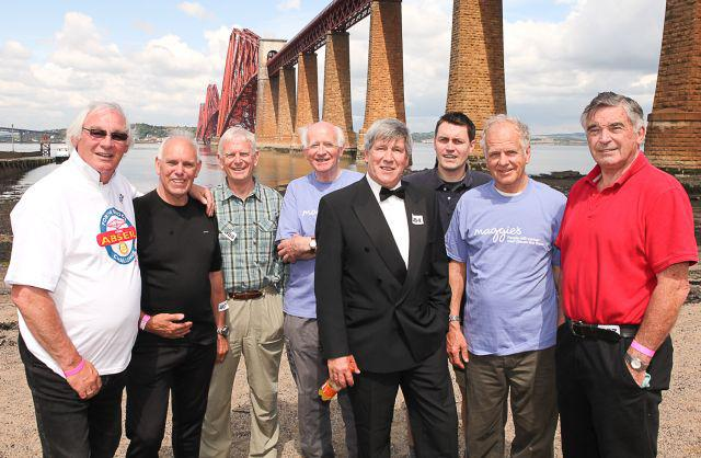 Abseil Success - June 2013 - The team who raised �2,500 by jumping off the Forth Bridge