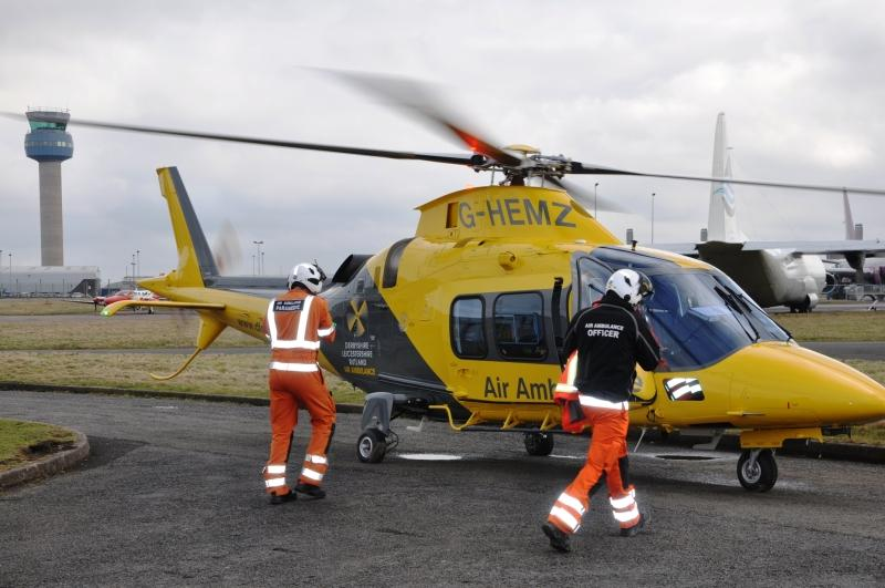 Picture kindly supplied by Air Ambulance Service, Princethorpe
