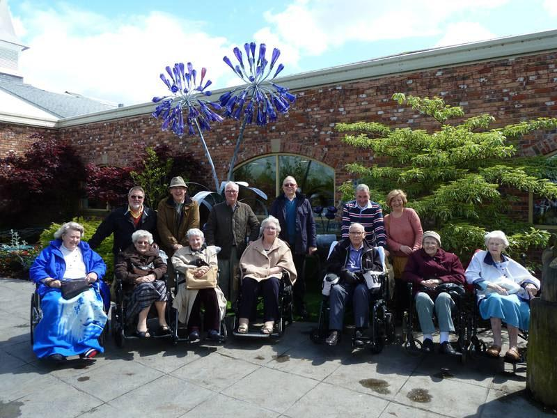 Residents of Alexandra House enjoy a day out , thanks to Southport Links Rotary