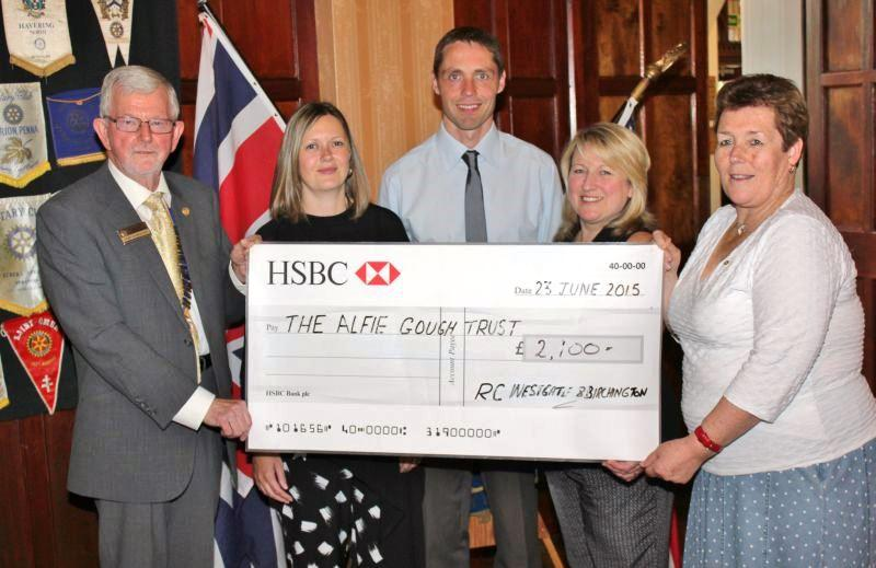 Donation to the Alfie Gough Trust