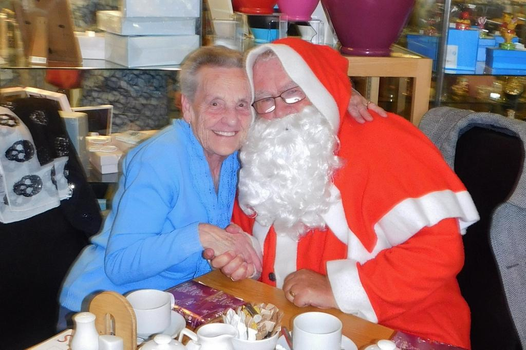 Father Christmas with one of the guests