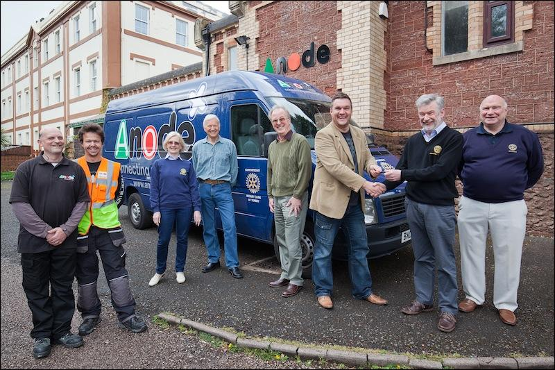 Handover of new van to ANODE by Bay Rotary Clubs.