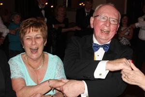 President Ashley and his wife Marjorie enjoying themselves.