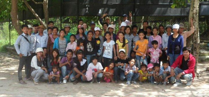 Pupils,Staff and Volunteers from Aziza's Place, Phnom Penh.