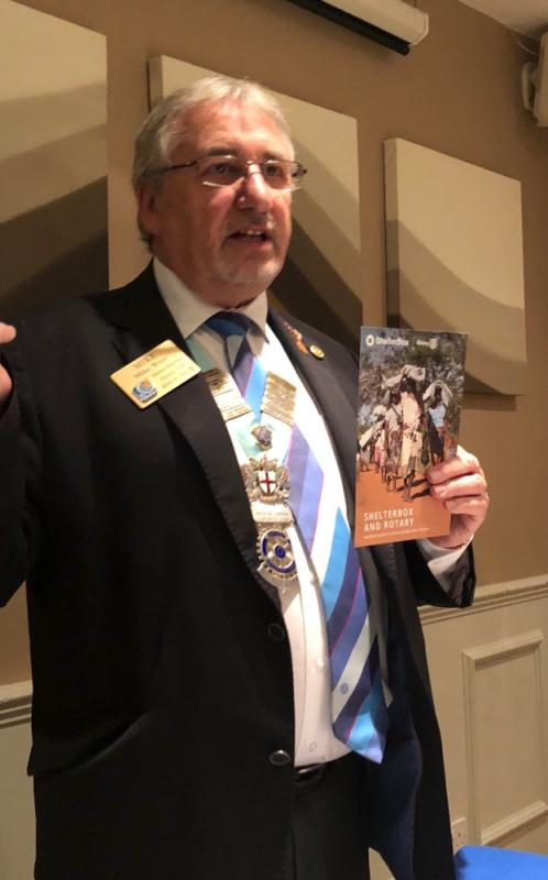 District Governor Mike Wren, District 1130 -
