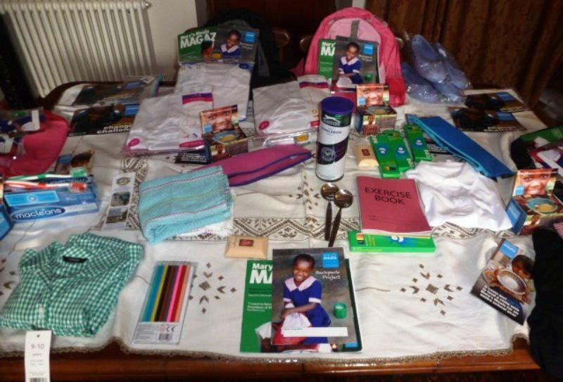 Items brought to the barbecue in aid of Mary's Meals.
