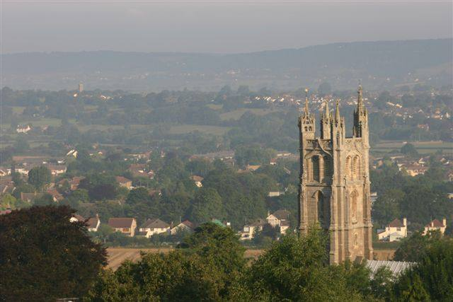 Our Club's local area of Nailsea and Backwell - A view over Backwell & Nailsea from Backwell Hill