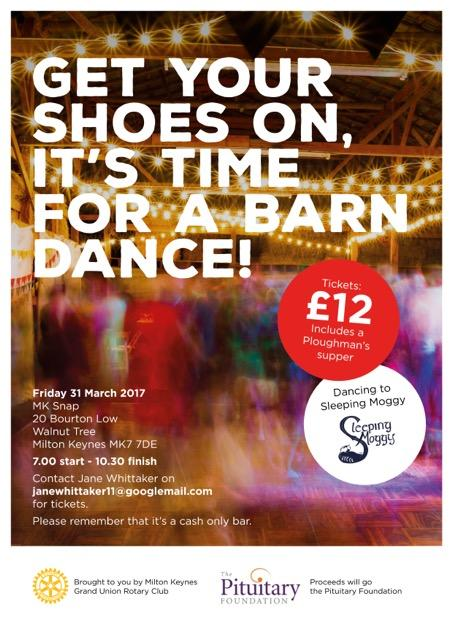 Our next event is the barn dance on 31 March.
