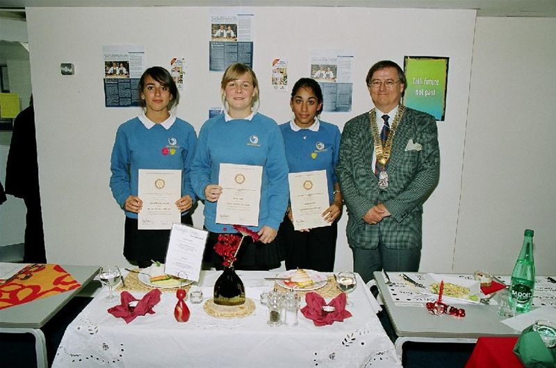 Winners of the Young Chef Competition at Waldegrave School -