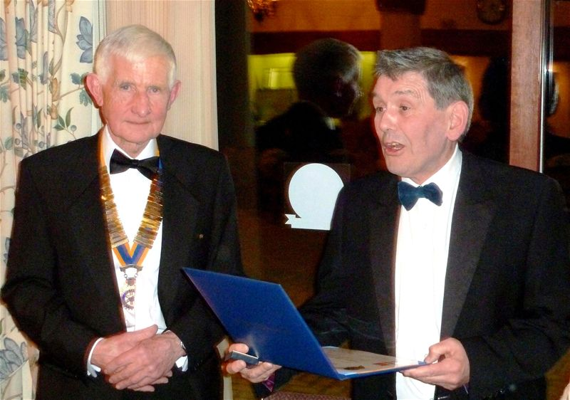 BARRY DONOVAN AWARDED ROTARY'S HIGHEST HONOUR -