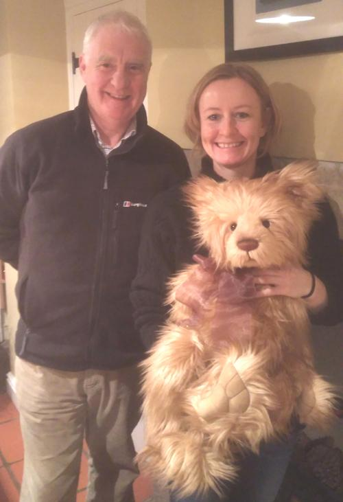 President Andy meets Holly the bear's new owners.