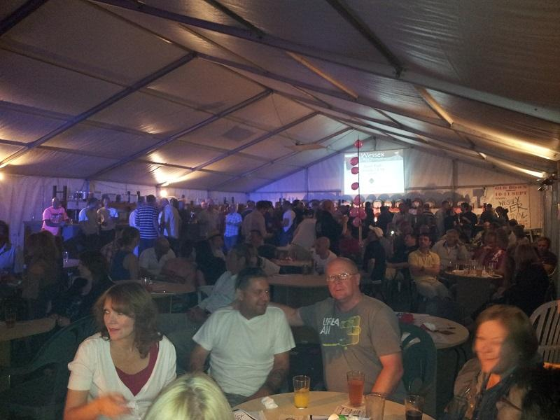 A packed marquee at the beer festival