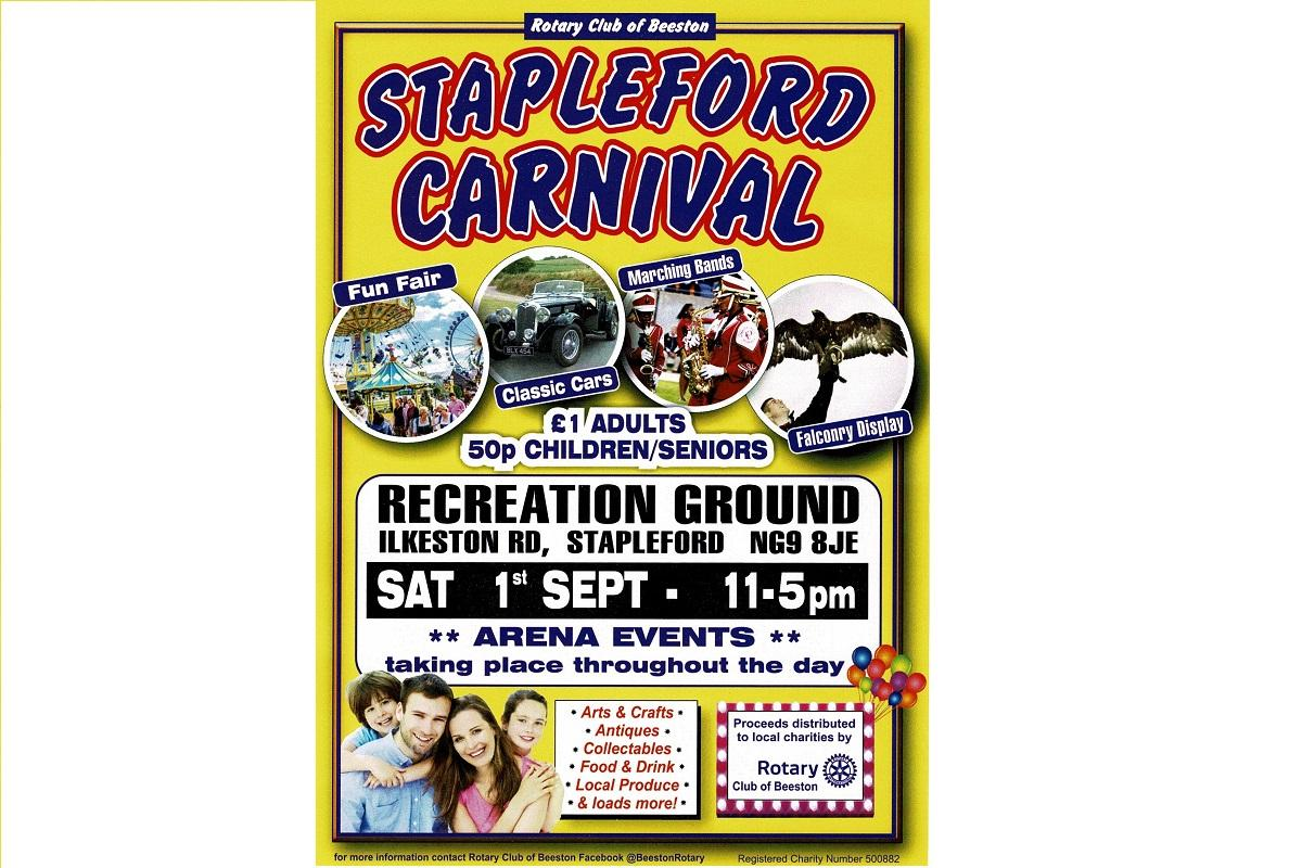 Flyer for Stapleford Carnival