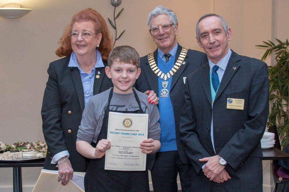 Bury Young Chef wins District Competition - Ben 12 of Westley School