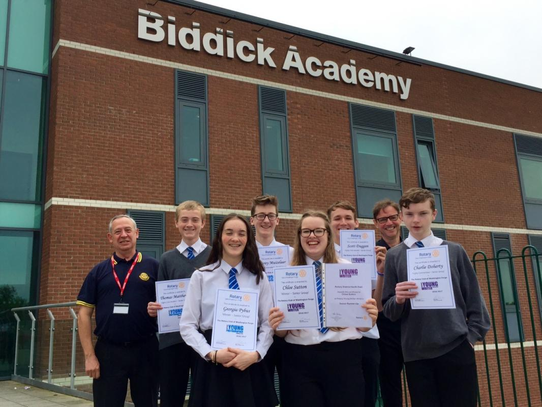 Biddick Academy Students receive their certificates