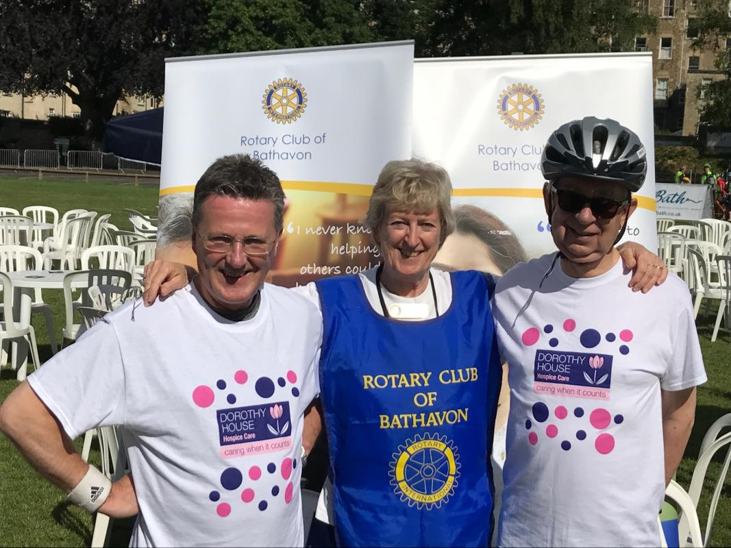 Bike Bath 2017 - Our energetic Presidents past and present but fit!