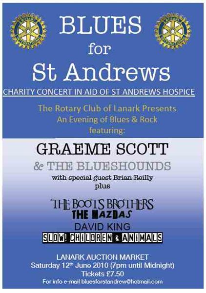 Blues for St Andrews - Blues Night Advert