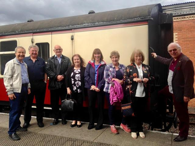 Latest Club News - Saturday afternoon tea on the Bo'ness railway.