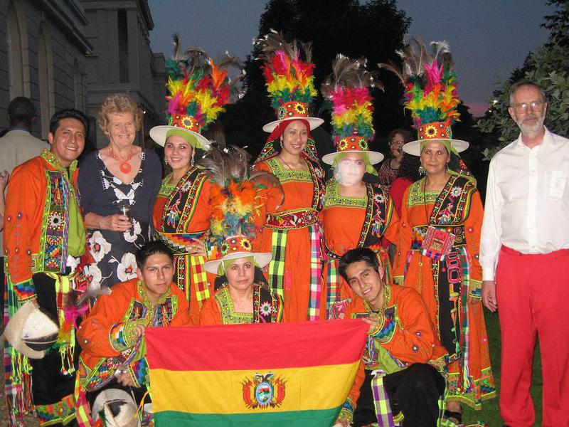 Support to Institute for the Blind in Bolivia - Bolivian Dance Troupe called Semillas de Bolivia entertained the Rotarians and their Guests.