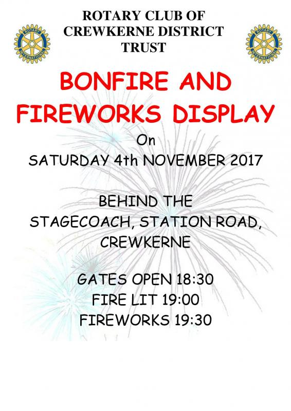 Annual Rotary Bonfire and Fireworks  -