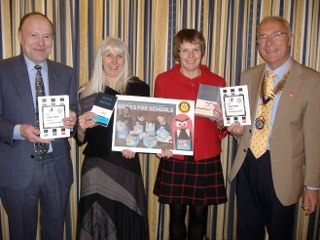Thomas More and Chapel High school teachers receive books and promote The Times/Sunday Times 'Books For Schools' token scheme.