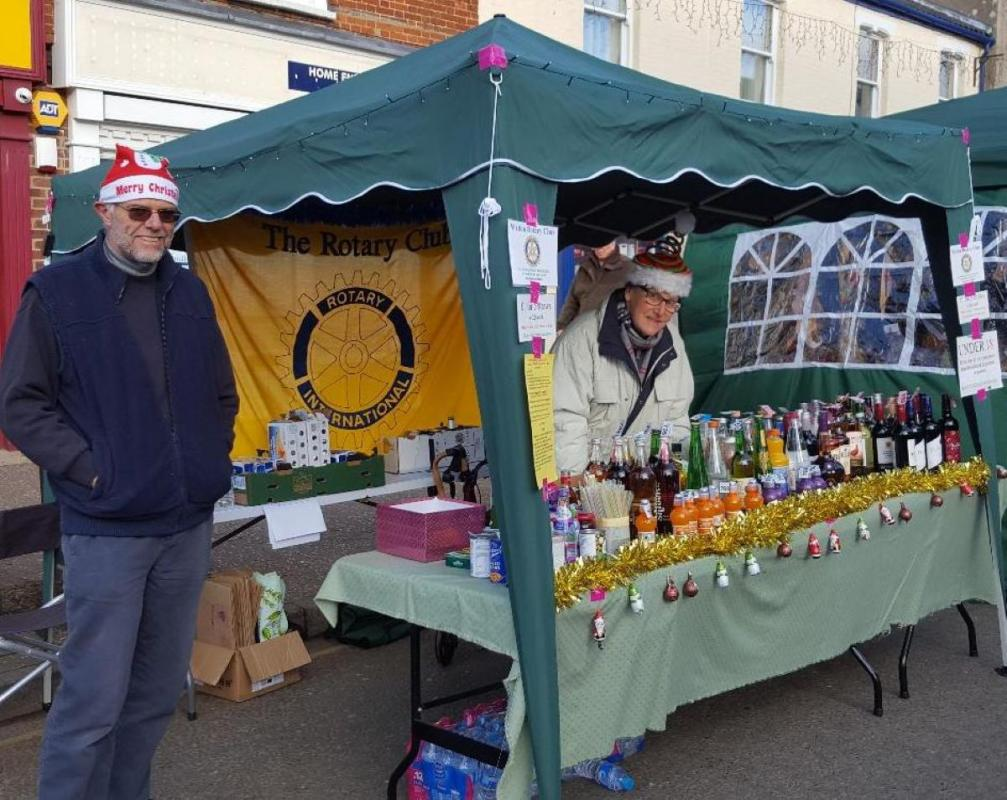 Our stall at Watton Christmas market