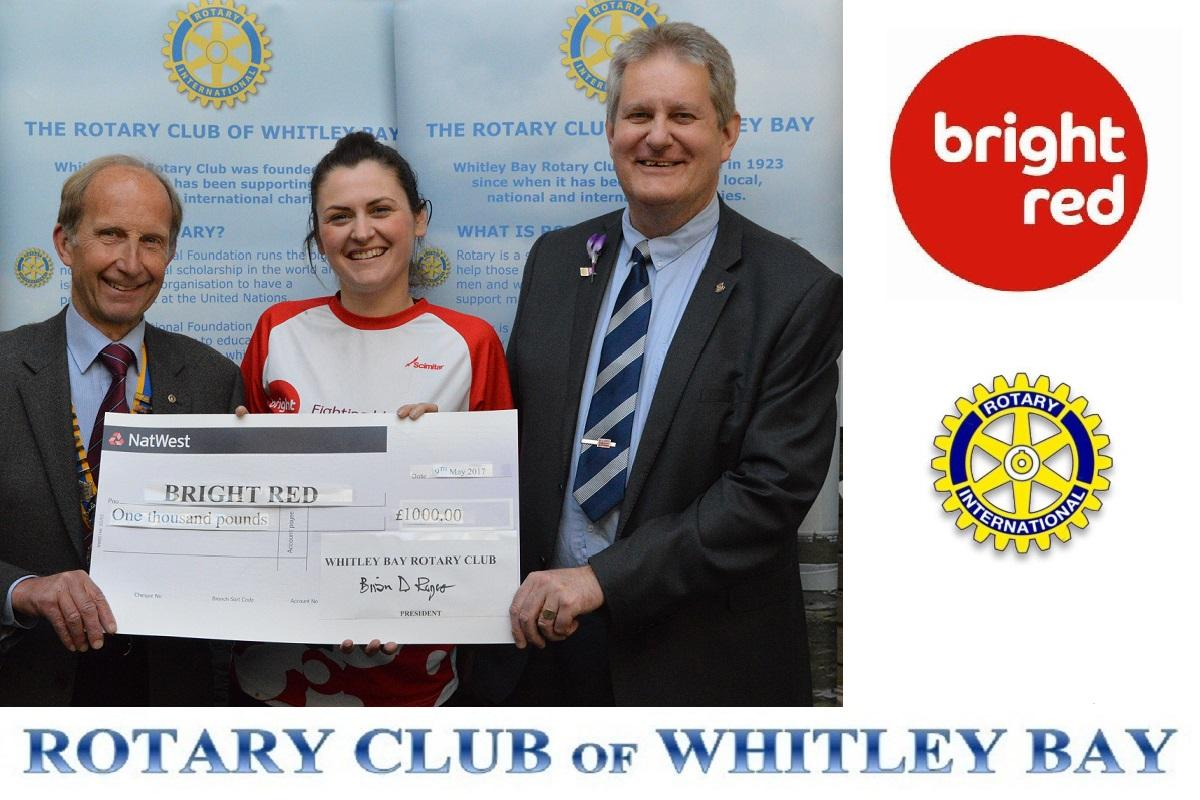 Whitley Bay Rotary Goes Bright Red