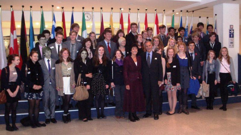 Rotary Schools visited to Brussels - Lawrence Sheriff and Rugby High schools visit to the EEC parliament.