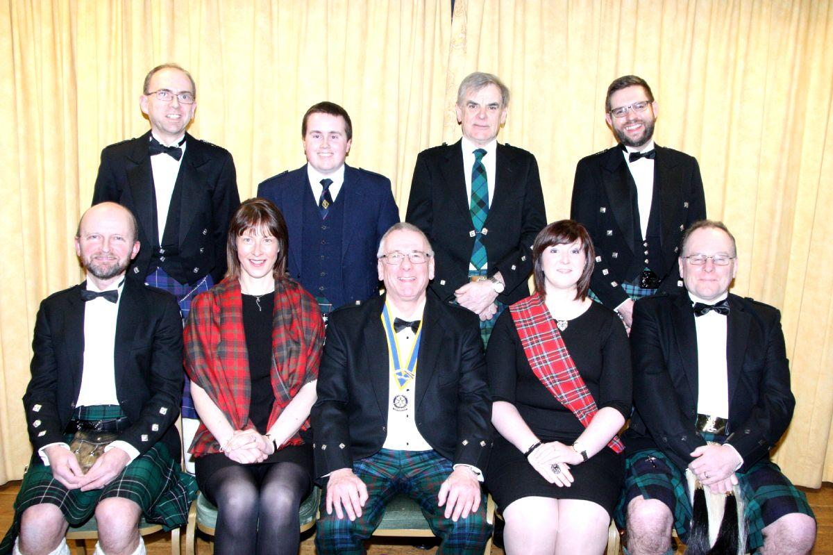 The Main Participants in the 2017 Burns Supper.