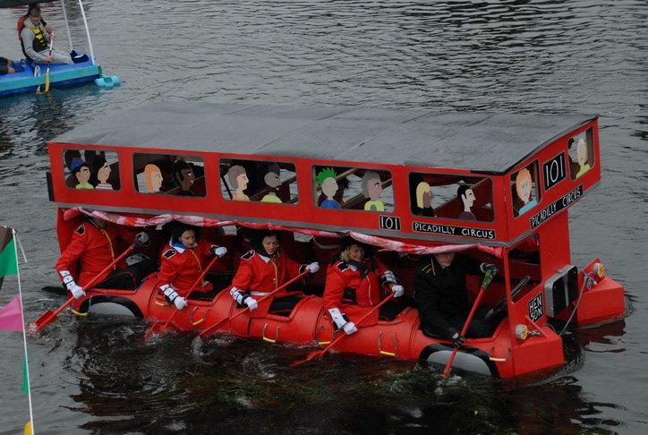 Monmouth Raft Race - Bus at last years race