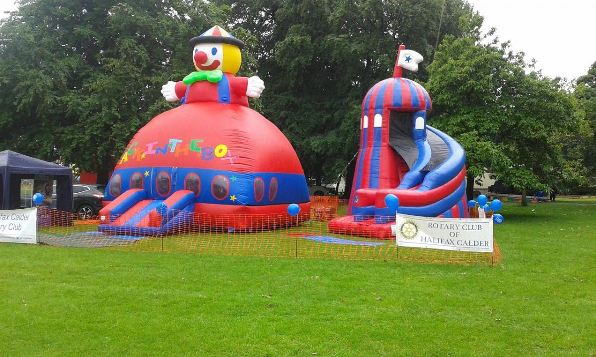Halifax Charity Gala - Stall + inflatables