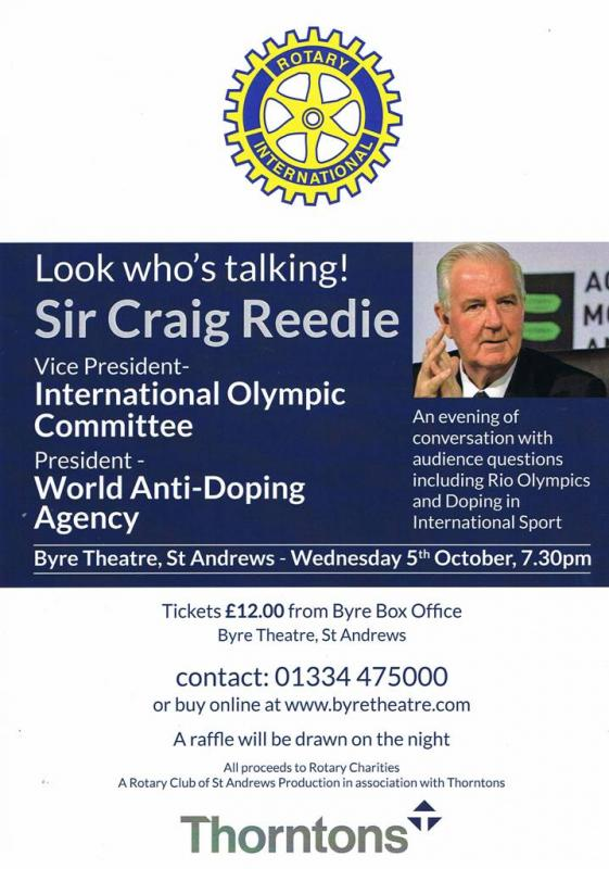 Sir Craig Reedie Chairman of the World Anti Doping Agency -