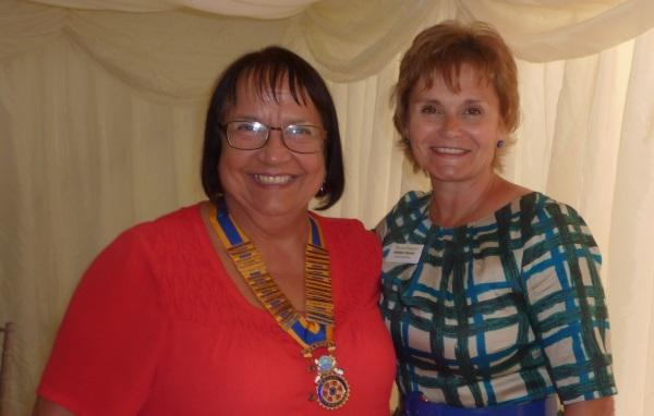 Charity Golf Events - President Diana with Thames Hospice CEO Debbie Raven
