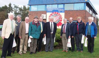 Happy Rotarians after their visit to the Galloway Creamery at Stranraer.