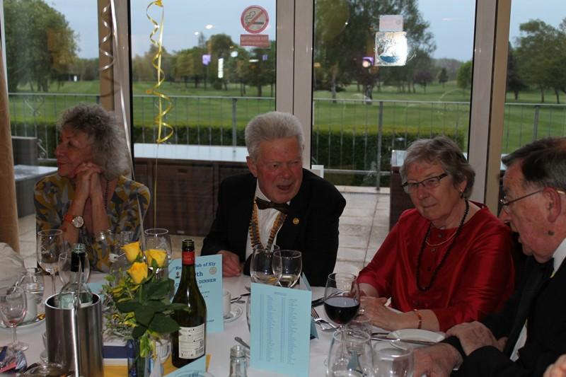 80th Charter Night - 27th April 2019 - Our President - Richard Tyler, wife Jackie and guests