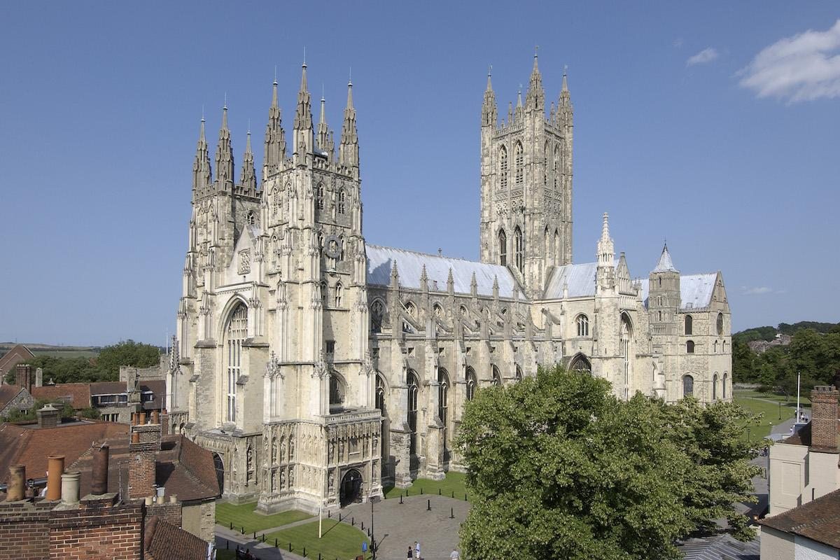Canterbury Cathedral goes purple on World Polio Day