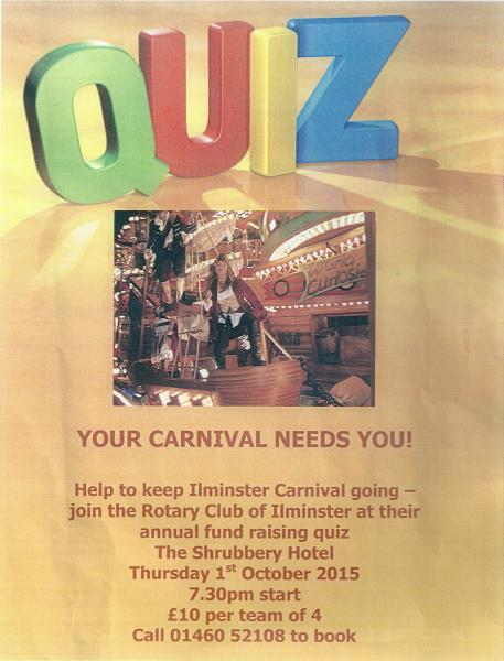 Rotary Club of Ilminster Carnival Quiz - Rotary District